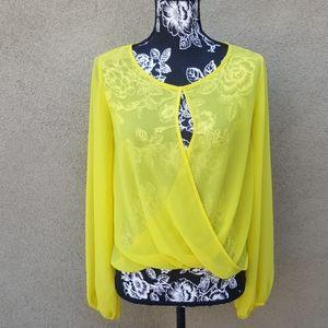 Fun bright yellow top